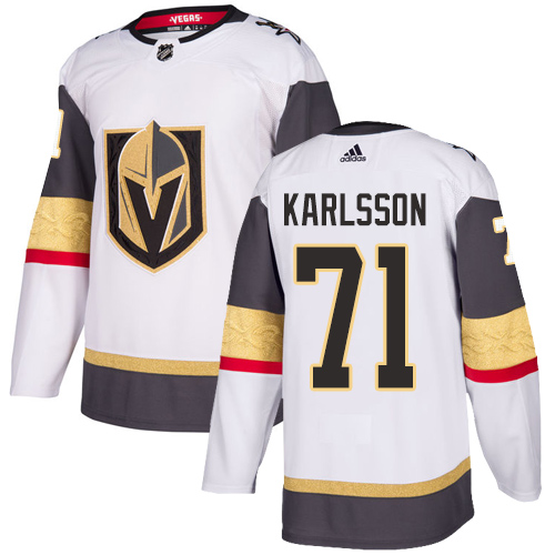 Adidas Golden Knights #71 William Karlsson White Road Authentic Stitched Youth NHL Jersey