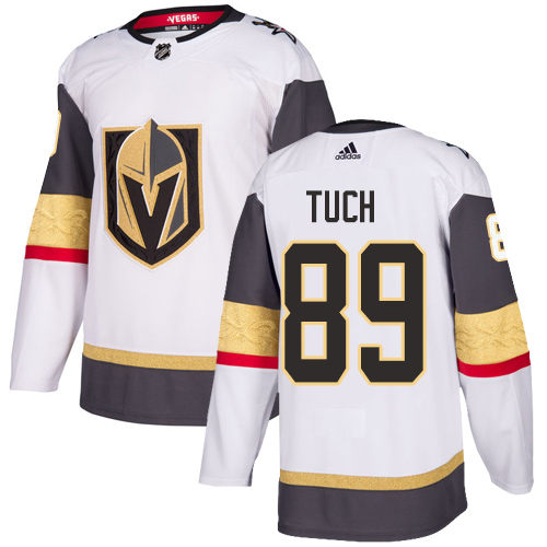 Adidas Golden Knights #89 Alex Tuch White Road Authentic Stitched Youth NHL Jersey