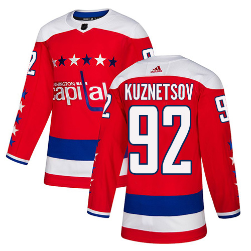 Adidas Capitals #92 Evgeny Kuznetsov Red Alternate Authentic Stitched Youth NHL Jersey