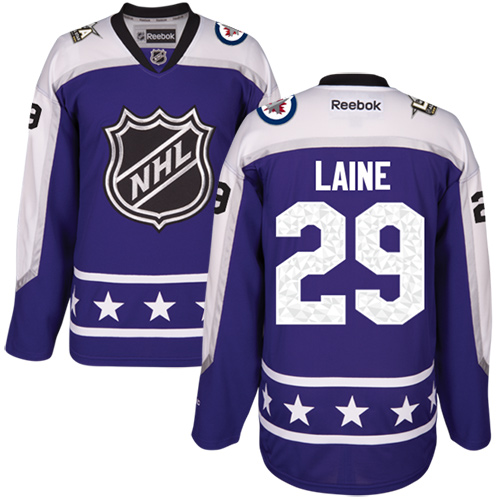 Jets #29 Patrik Laine Purple 2017 All-Star Central Division Stitched Youth NHL Jersey