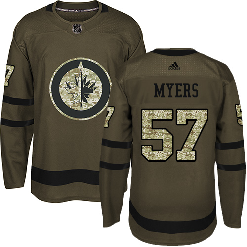 Adidas Jets #57 Tyler Myers Green Salute to Service Stitched Youth NHL Jersey