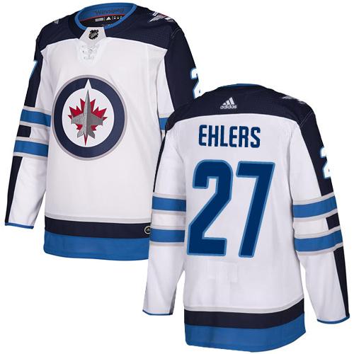 Adidas Jets #27 Nikolaj Ehlers White Road Authentic Stitched Youth NHL Jersey