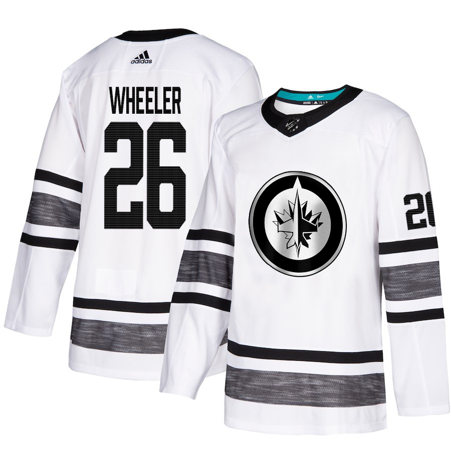 Adidas Jets #26 Blake Wheeler White Authentic 2019 All-Star Stitched Youth NHL Jersey